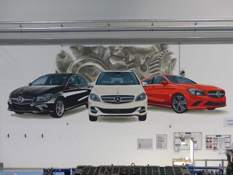 80 m2-es falfestmény